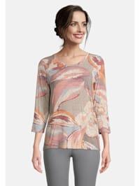 Basic Shirt mit Blumenprint