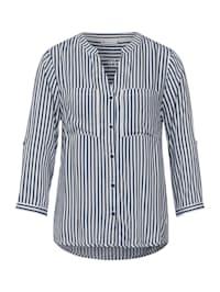 Bluse mit Streifen Muster