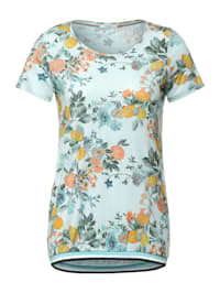 T-Shirt in Melange Optik