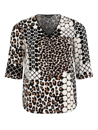 Shirtbluse mit Allover-Print