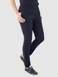 Športové zamatové nohavice s úzkymi strihom