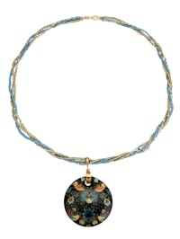 Halsband med hänge av Muranoglas