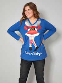 Sweatshirt met elfjesprint