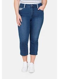 Jeans «Die Schmale», in 7/8-Länge, mit Kontrastdetails