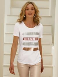 Shirt mit Foliendruck im Vorderteil