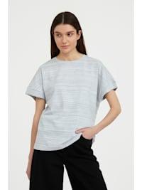 Rundhals-Shirt mit modischem Streifenmuster