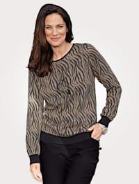 Pullover mit tierischem Jaquardstrick