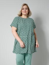 Blusen-Shirt mit Allover-Print