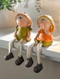 Sedící figurky 2 ks