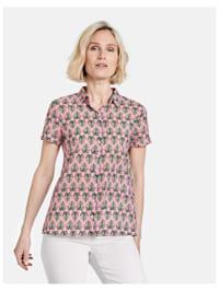 Bluse mit Palmenblättern
