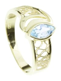 Ring - Anisia - Gold 333/000 - Blautopas