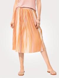 Plisserad kjol med resårlinning