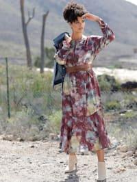 Web-Kleid mit Volants