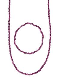 2-delige sieradenset met robijn