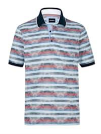 Poloshirt met luxueus jacquardpatroon rondom