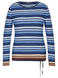 Pullover mit gestreiftem Muster und Logo-Applikation