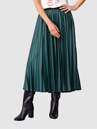 Plisovaná sukně v pohodlném střihu bez zapínání