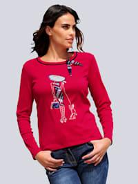 Shirt mit appliziertem Motiv