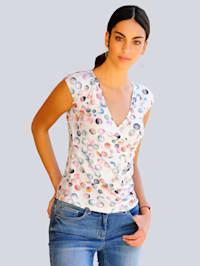 Shirt im farbenfrohem Tupfendessin