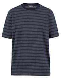 T-shirt met ingebreid patroon