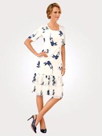 Kleid mit Plissee-Einsatz