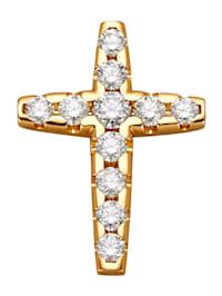 Pendentif Croix avec 11 brillants