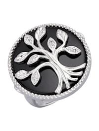 Lebensbaum-Ring mit Achat