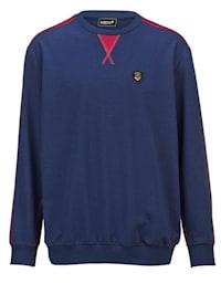 Sweatshirt mit kontrastfarbigen Nähten