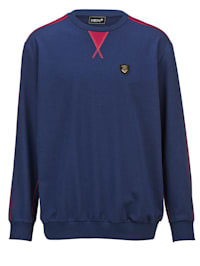 Sweatshirt med kontrastfärgade sömmar