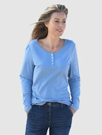 Shirt mit Perlmutt-Knöpfen
