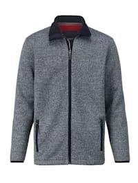 Pletená fleecová bunda s kapsami se zipem