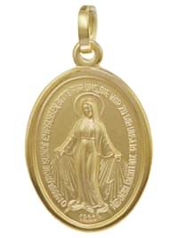 Madonna Milagrosa Anhänger Gold 585