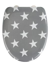 Premium WC-Sitz Stella Grau, aus antibakteriellem Duroplast, mit Absenkautomatik