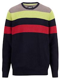 Pullover mit Blockstreifendesign