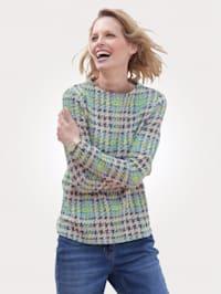 Sweatshirt med snygg halsringning