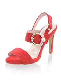 Sandalette mit Schmuckschnalle