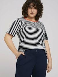 Curvy - Gestreiftes T-Shirt mit Bio-Baumwolle