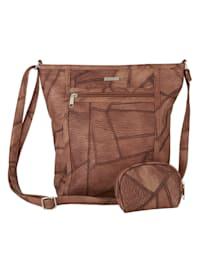 2-delige tassenset in patchworklook