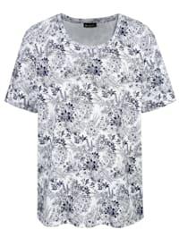 Shirt rundum im Blumendruckdessin