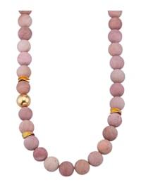Halskette mit Rhodonit