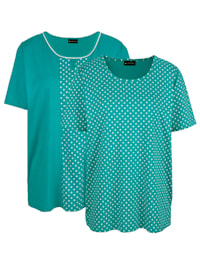 Shirts per 2 1x effen, 1x gestippeld