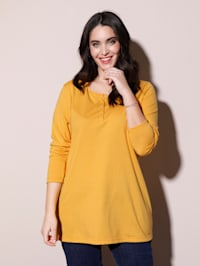 T-shirt avec petite patte boutonnée