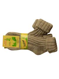 Chaussettes en laine d'alpaga avec revers