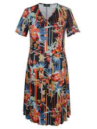 Jerseykleid mit Blumenmuster