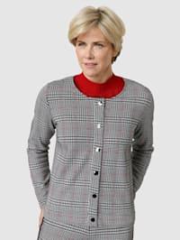 Tričkový kabátik s Glencheck-vzorom