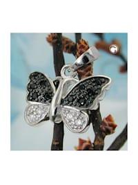 Anhänger 11x15mm Schmetterling, Silber 925