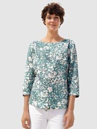 Bluse in schönem Blumendruck