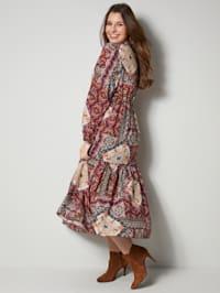Klänning med mönstermix