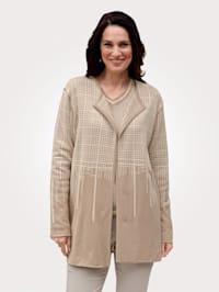 Reversible cardigan in a jacquard pattern