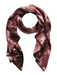 Schal mit Batik-Muster